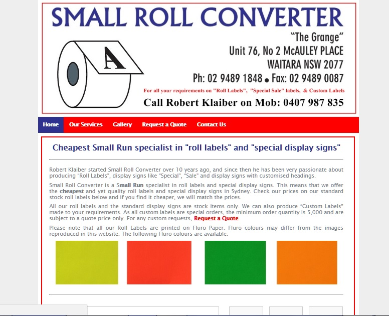 Small Roll Converter