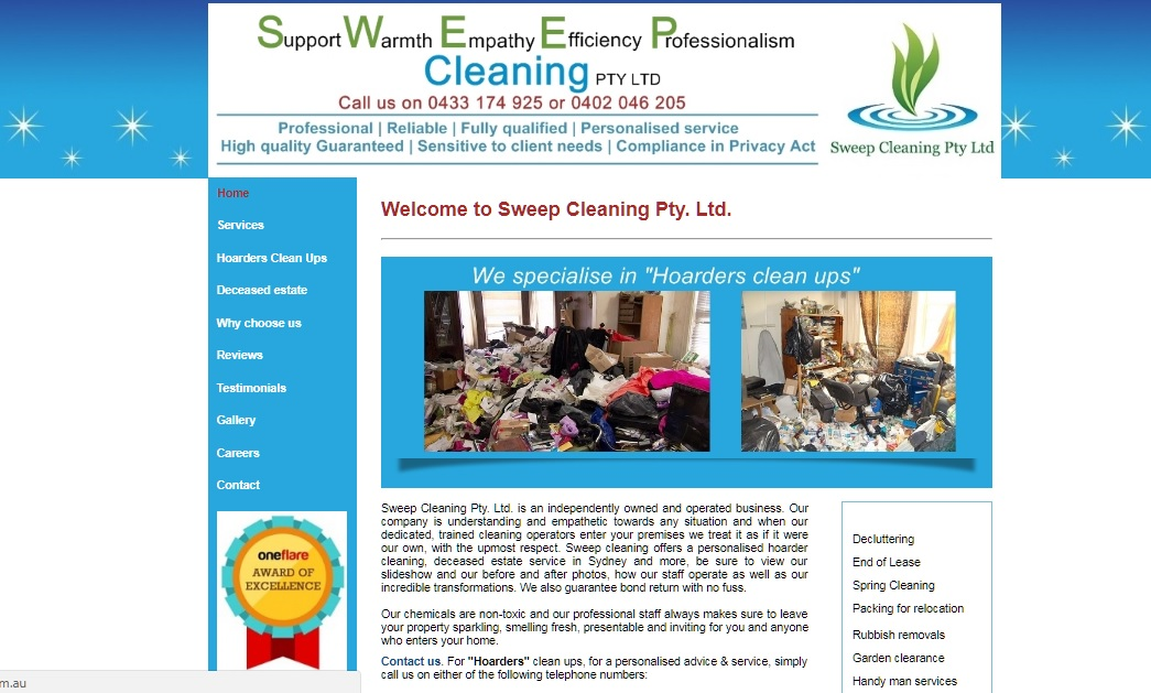 Sweep Cleaning